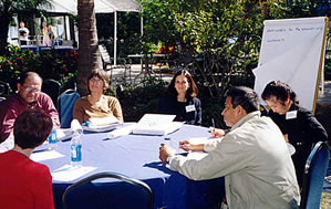 Workshop participants at round table