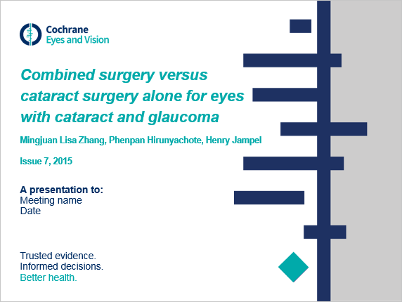 Combined surgery versus cataract surgery alone for eyes with cataract and glaucoma